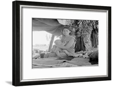 Refugees of the Drought of the Dust Bowl-Dorothea Lange-Framed Art Print