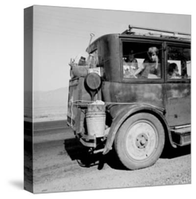 Drought Refugees Migrate by Car-Dorothea Lange-Stretched Canvas Print