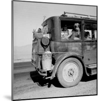 Drought Refugees Migrate by Car-Dorothea Lange-Mounted Art Print