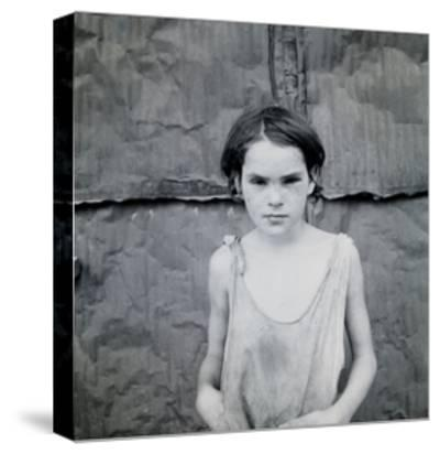 Child Living in Oklahoma City Shacktown-Dorothea Lange-Stretched Canvas Print