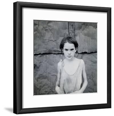 Child Living in Oklahoma City Shacktown-Dorothea Lange-Framed Art Print