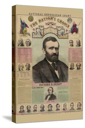 National Republican Chart-H^ H^ Lloyd-Stretched Canvas Print