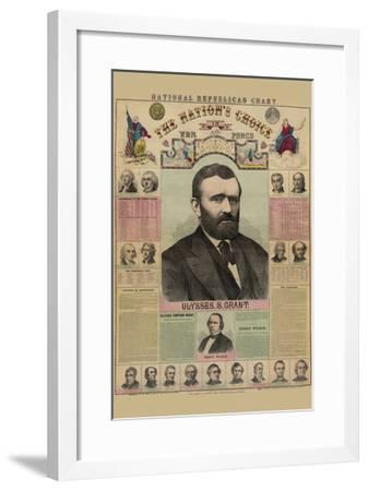 National Republican Chart-H^ H^ Lloyd-Framed Art Print