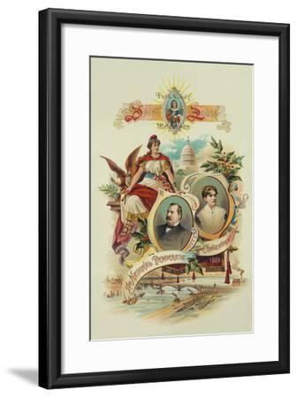 City of Saint Louis Welcomes the National Democratic Convention, 1888- Tracey Printing-Framed Art Print