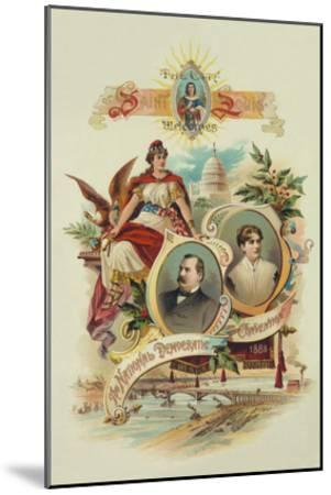 City of Saint Louis Welcomes the National Democratic Convention, 1888- Tracey Printing-Mounted Art Print