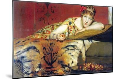 A Craving for Cherries-Sir Lawrence Alma-Tadema-Mounted Art Print