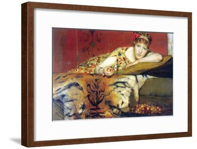 A Craving for Cherries-Sir Lawrence Alma-Tadema-Framed Art Print