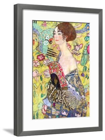 Lady with a Fan-Gustav Klimt-Framed Art Print
