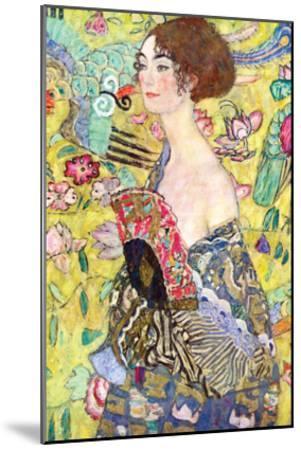 Lady with a Fan-Gustav Klimt-Mounted Art Print