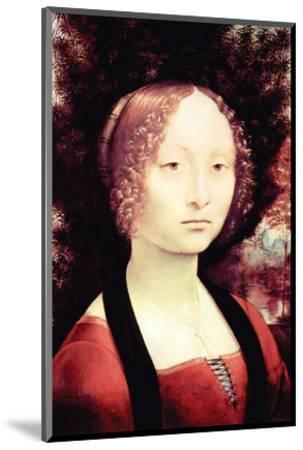 Portrait of a Dame-Leonardo da Vinci-Mounted Premium Giclee Print