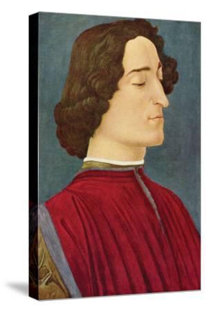 Portrait of Giuliano De Medici-Sandro Botticelli-Stretched Canvas Print