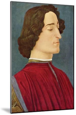 Portrait of Giuliano De Medici-Sandro Botticelli-Mounted Art Print