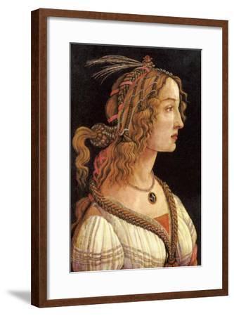 Portrait of Simonetta Vespucci-Sandro Botticelli-Framed Art Print