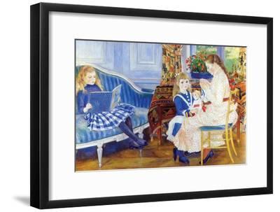 Children in the Afternoon in Wargemont-Pierre-Auguste Renoir-Framed Art Print