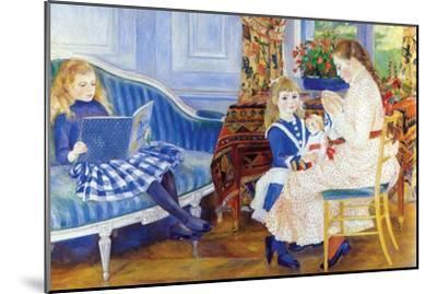 Children in the Afternoon in Wargemont-Pierre-Auguste Renoir-Mounted Art Print
