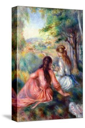 In the Meadow-Pierre-Auguste Renoir-Stretched Canvas Print