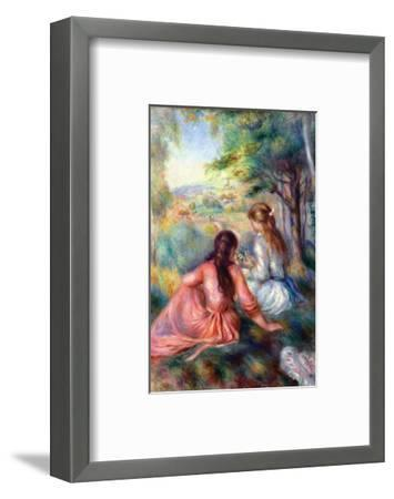 In the Meadow-Pierre-Auguste Renoir-Framed Premium Giclee Print