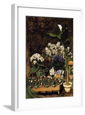 Mixed Spring Flowers-Pierre-Auguste Renoir-Framed Art Print