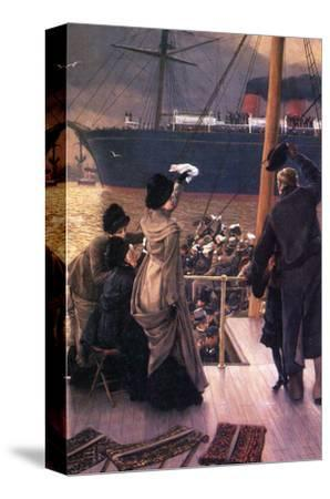 Farewell to the Mersey-James Tissot-Stretched Canvas Print