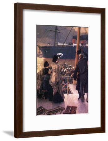 Farewell to the Mersey-James Tissot-Framed Art Print