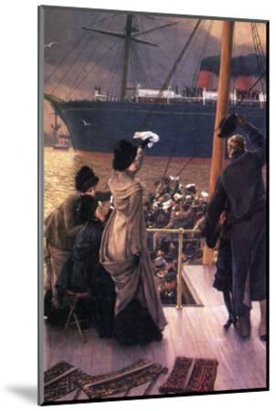 Farewell to the Mersey-James Tissot-Mounted Art Print