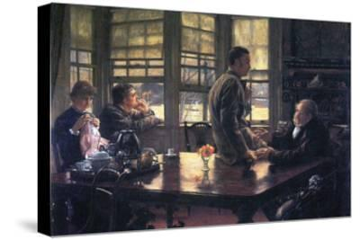 The Prodigal Son in Modern Life- the Farewell-James Tissot-Stretched Canvas Print
