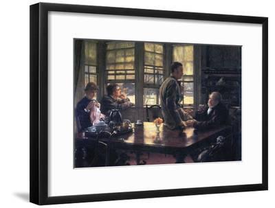 The Prodigal Son in Modern Life- the Farewell-James Tissot-Framed Art Print
