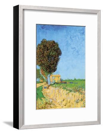 A Lane Near Arles-Vincent van Gogh-Framed Art Print