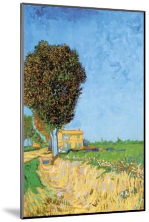A Lane Near Arles-Vincent van Gogh-Mounted Art Print