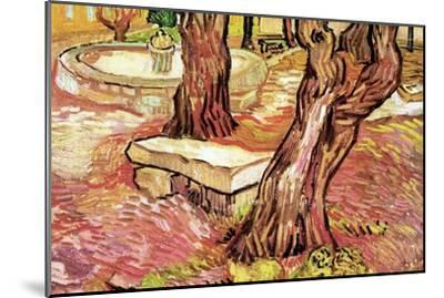 The Stone Bench in the Garden of Saint-Paul Hospital-Vincent van Gogh-Mounted Art Print