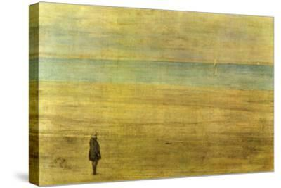 Harmony in Blue and Silver - Trouville-James Abbott McNeill Whistler-Stretched Canvas Print