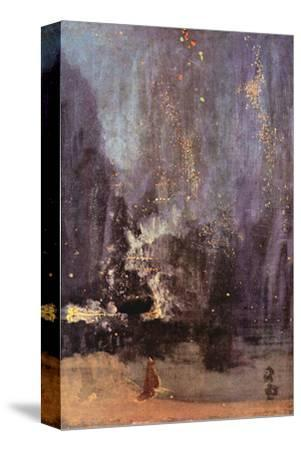 Nocturne in Black and Gold, the Falling Rocket-James Abbott McNeill Whistler-Stretched Canvas Print