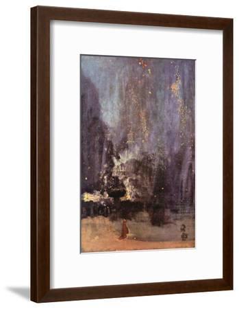 Nocturne in Black and Gold, the Falling Rocket-James Abbott McNeill Whistler-Framed Art Print
