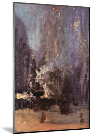 Nocturne in Black and Gold, the Falling Rocket-James Abbott McNeill Whistler-Mounted Art Print
