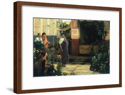 The Flower Market-Sir Lawrence Alma-Tadema-Framed Art Print