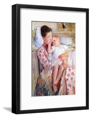 Mother and Child-Mary Cassatt-Framed Art Print