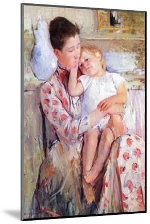 Mother and Child-Mary Cassatt-Mounted Art Print