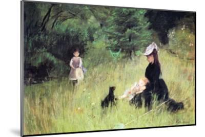 In the Meadow-Berthe Morisot-Mounted Art Print