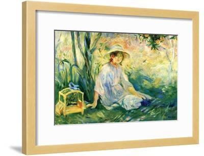 Under the Orange Tree-Berthe Morisot-Framed Art Print