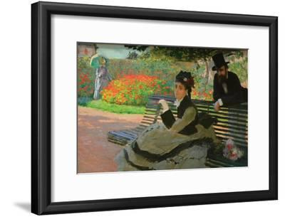 Camille Monet on a Garden Bench-Claude Monet-Framed Art Print