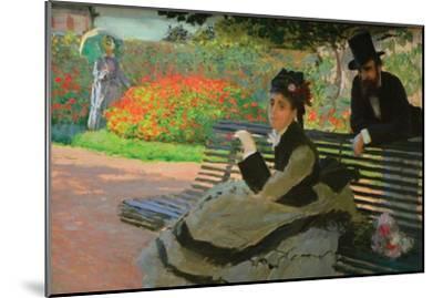 Camille Monet on a Garden Bench-Claude Monet-Mounted Art Print