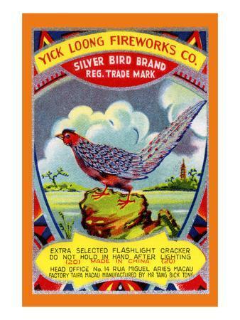 Yick Loong Silver Bird Brand Firecracker--Framed Art Print