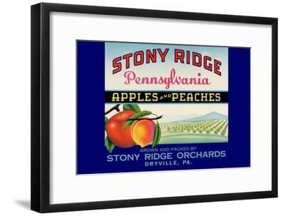Stony Ridge Pennsylvania Apples and Peaches--Framed Art Print
