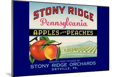 Stony Ridge Pennsylvania Apples and Peaches--Mounted Art Print