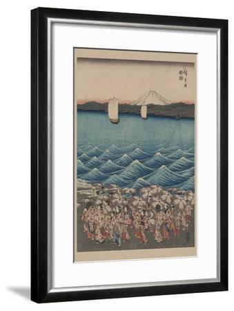 Opening Celebration of Benzaiten Shrine at Enoshima in Soshu-Ando Hiroshige-Framed Art Print