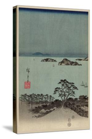 Evening View of Eight Famous Sites at Kanazawa in Musashi Province (Uyokanazawa Hassshoyakei) No.1-Ando Hiroshige-Stretched Canvas Print