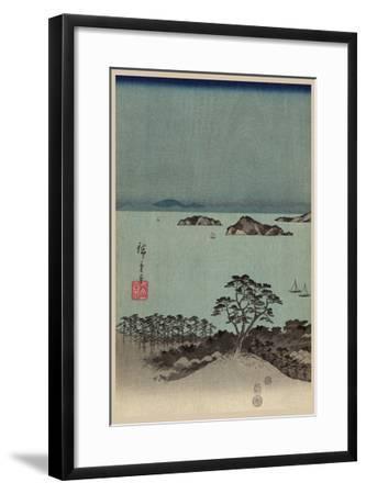 Evening View of Eight Famous Sites at Kanazawa in Musashi Province (Uyokanazawa Hassshoyakei) No.1-Ando Hiroshige-Framed Art Print