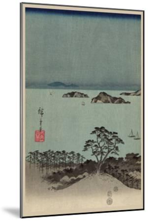 Evening View of Eight Famous Sites at Kanazawa in Musashi Province (Uyokanazawa Hassshoyakei) No.1-Ando Hiroshige-Mounted Art Print