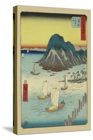 Maisaka-Ando Hiroshige-Stretched Canvas Print