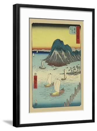 Maisaka-Ando Hiroshige-Framed Art Print